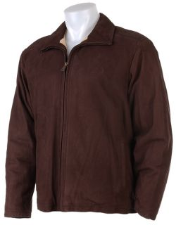 Timberland Mens Zip Front Leather Jacket