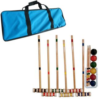 Trademark Games Complete Croquet Set with Carrying Case Today $57.33