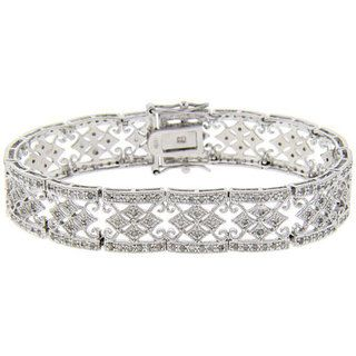 Sterling Silver 1ct TDW Diamond Bracelet