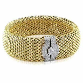 14k Two tone Gold 1ct TDW Diamond Bracelet (G H, SI1 SI2)