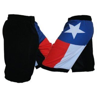 Texas Flag MMA Fight Shorts Size 30