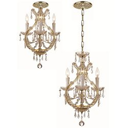 Maria Theresa 3 light Gold Mini Chandelier
