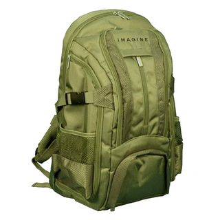 Imagine Eco friendly Small Green 16 inch Laptop Backpack