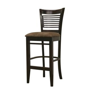 Ellen Dark Brown Modern Bar Stools (Set of 2)