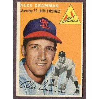 1954 Topps #151 Alex Grammas Cardinals VG EX 183391 Kit