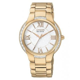 Citizen Womens Eco drive Ciena Light Rose Gold tone Watch