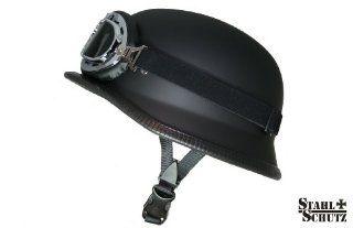 Motorradhelm im Wehrmacht Style mit Brille Größe L