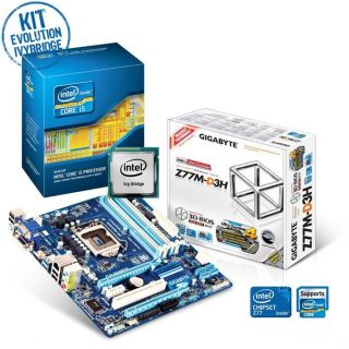 Kit Evo Joun IvyBridge   Contient  Gigabyte Z77M D3H + Intel® Core