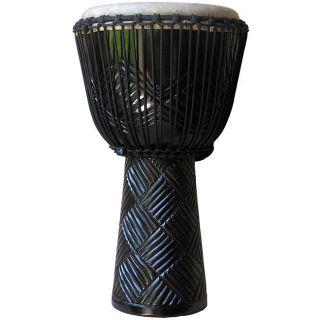 Freedom Drums Pro XL Ebony Weave/ Turquoise Rope Djembe Drum