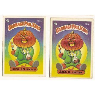 Topps GARBAGE PAIL KIDS Cards 4th SERIES 153 a & b Jack O