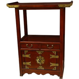 Handmade Pagoda top Wood Telephone Table (China)