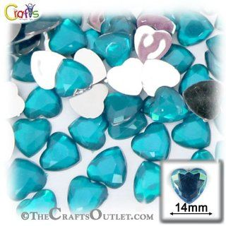 The Crafts Outlet 144 Piece Flat Back Heart Rhinestones