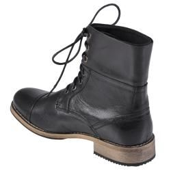 Oxford & Finch Mens Topstitched Leather Lace up Boots