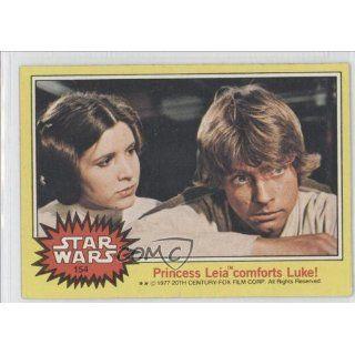 Leia comforts Luke (Trading Card) 1977 Star Wars #154