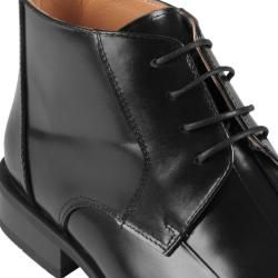 Oxford & Finch Mens Topstitched Leather Lace up Ankle Boots