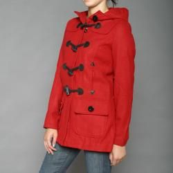 Red Fox Womens Red Wool blend Toggle Coat
