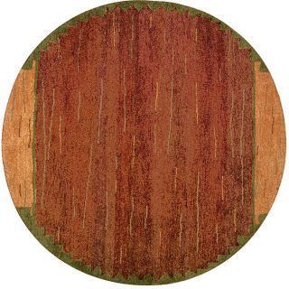 Hand knotted Rustic Gabbeh Rug (8 Round)