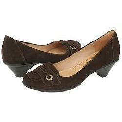 Softspots Womens Sorrento Chocolate Suede Pumps/ Heels