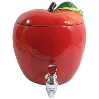American Atelier 188 ounce Ceramic Apple Beverage Dispenser