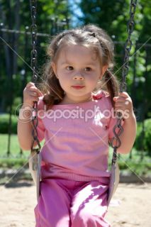Little girl on a swing  Stock Photo © Svitlana Pavzyuk #1502307