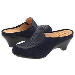 Softspots Womens Aurora Navy Leather/ Suede Slip ons