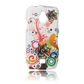 Luxmo Autumn Flower Rubber Coated Case for Samsung Exhibit 4G/ T759