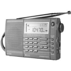Eton E100 AM/FM 200 Stations Shortwave Radio Digital Clock Alarm