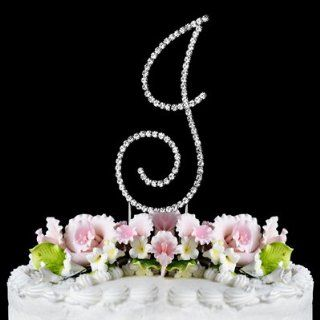 RENAISSANCE MONOGRAM WEDDING CAKE TOPPER LARGE LETTER J