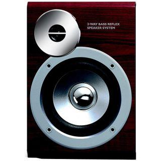 Philips MCD515 Oakwood Bookshelf Speakers (Set of 2)