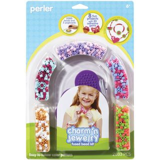 Perler Fun Fusion Fuse Bead Activity Kit Pink Jewelry