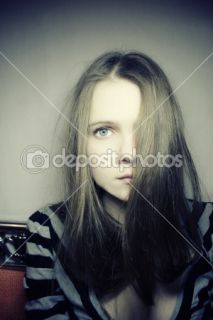 Young pale sad girl  Stock Photo © korionov #1588758
