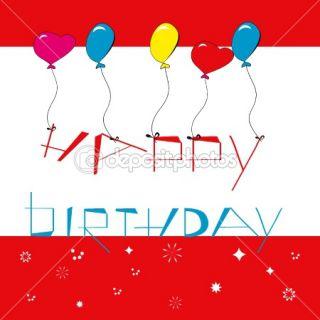 Happy birthday background with balloons  Stock Vector © Regina