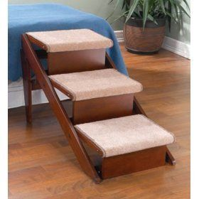 THREE STEP   Fold Away Pet Steps and Ramp in One Pet