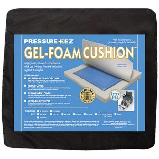 Hudson Pressure Eez Gel foam Wheelchair Seat Cushions (18x16x2) (Pack