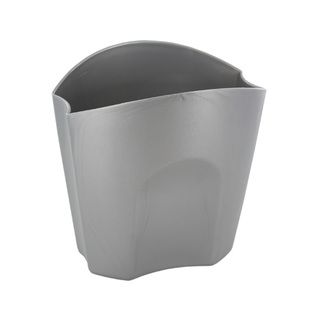 Rubbermaid Nesting Plastic Divided Pencil Cups Silver (Pack of 3