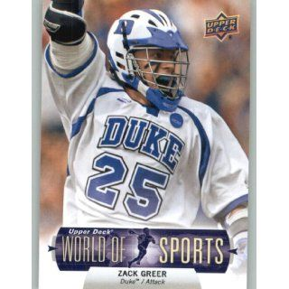 2011 Upper Deck World of Sports #193 Zack Greer   Duke Blue Devils