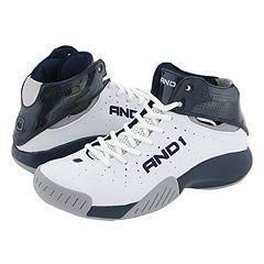 And 1 High Flyer Mid White/Navy/Light Grey