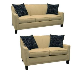 Avery Cream Fabric Sofa and Loveseat