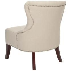 Newbury Tufted Nailhead Beige Living Room Chairs (Set of 2
