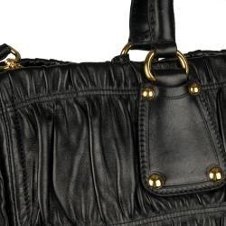 Prada Black Nappa Leather Tote Bag