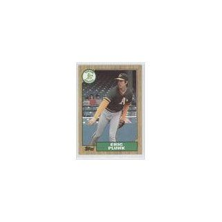 Eric Plunk Oakland Athletics (Baseball Card) 1987 Topps