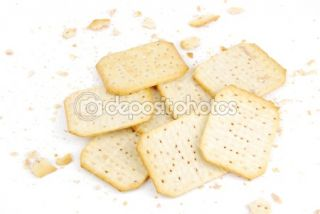 Bunch of rectangular cheese crackers  Foto Stock © Luis Santos