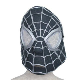 Black Spider Man  Monster Rubber Face Mask Dress Up