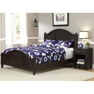 Bermuda Queen Bed and Night Stand Espresso Finish