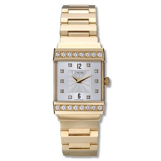 Concord Crystale 18k Yellow Gold Diamond Watch