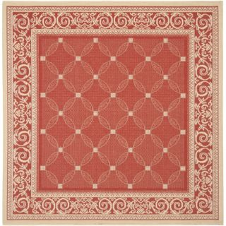 Red/ Natural Indoor Outdoor Rug (710 Square)