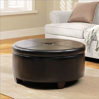 Winston Large Round Button top Storage Ottoman