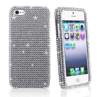 BasAcc Full Silver Diamond Snap on Case for Apple iPhone 5