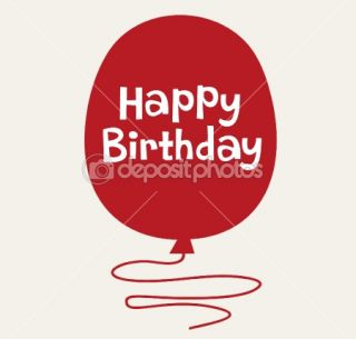 Balloon birthday card design  Stock Vector © jinru huang #2129240