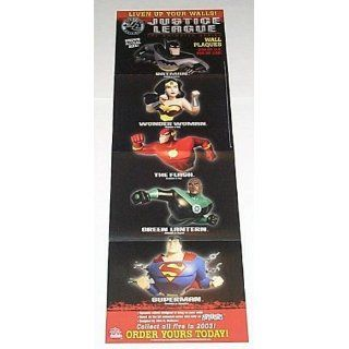 1993 JLA Cartoon Network Justice League the Animated Series Wall